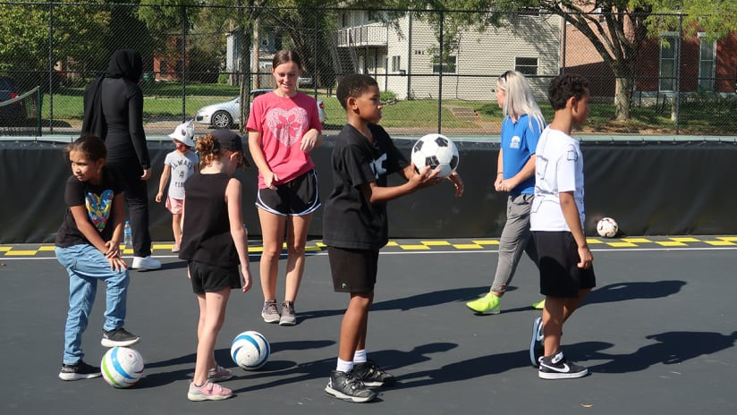 GIVE FORWARD | Columbus Crew hosts Ohio Blind Soccer at local mini-pitch in partnership with Columbus Recreation and Parks