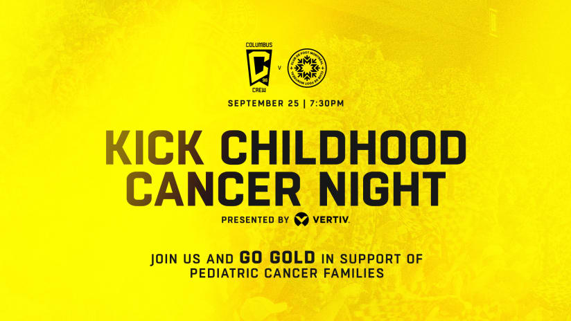 GO GOLD   Supporters encouraged to wear gold-colored gear on Saturday vs. CF Montreal in support of pediatric cancer families