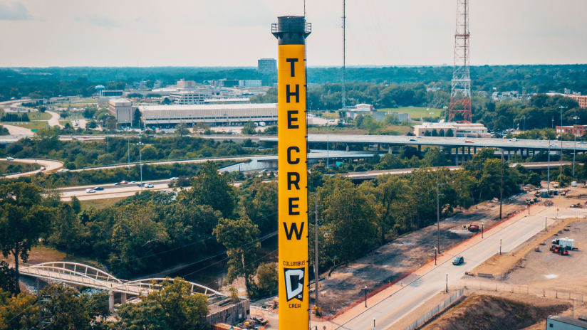PHOTOS | Check out the new Crew smokestack outside Lower.com Field