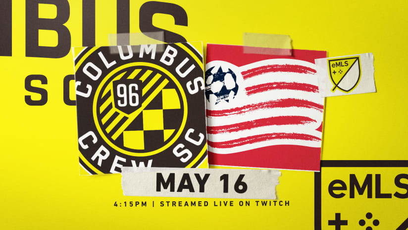 Esports | Live-stream eMLS match between Crew96Skamzz and New England's JKO on Saturday, May 16 at 4:15 p.m. ET
