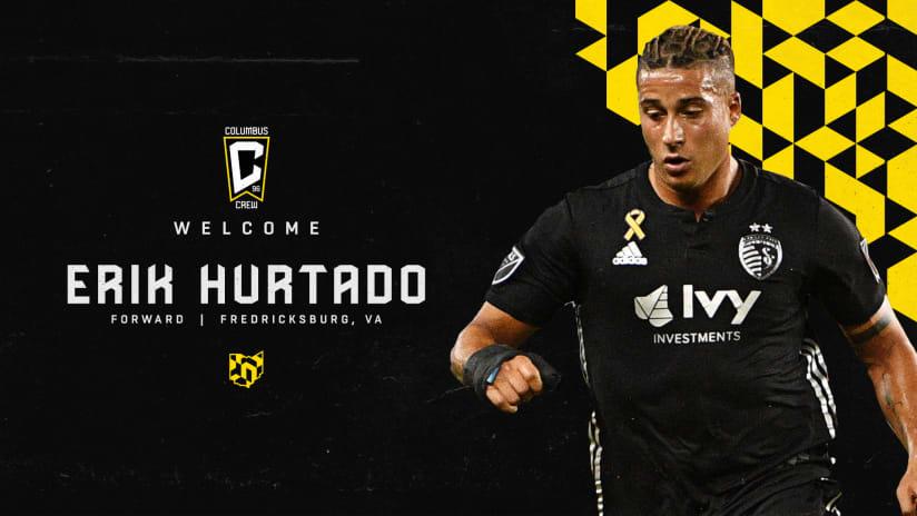 Columbus Crew acquires forward Erik Hurtado in trade with CF Montreal