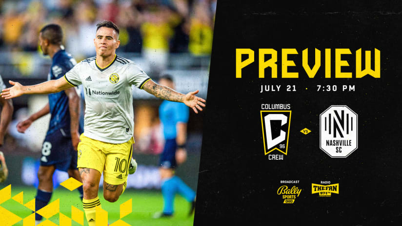 PREVIEW | Adjacent in the Standings, Crew looks to continue win streak vs. Nashville