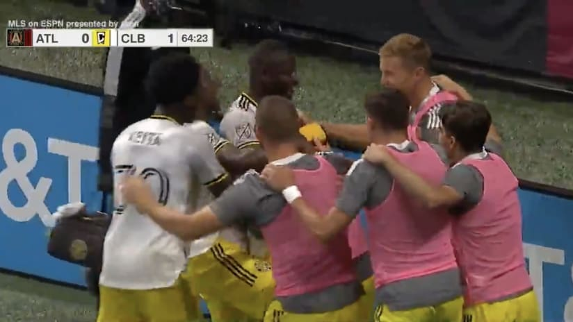 GOAL | Jonathan Mensah heads in the opening goal to give Columbus a second-half lead