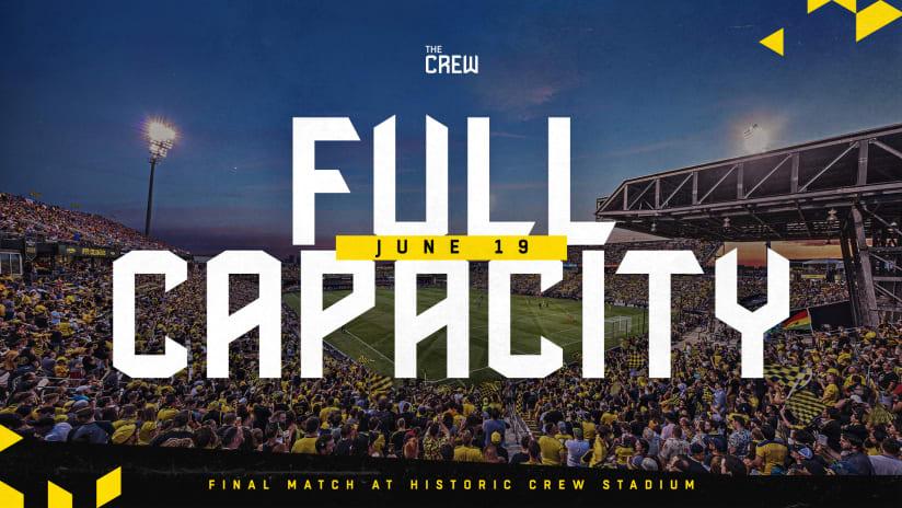 Columbus Crew announces final match at Historic Crew Stadium June 19 to be at full capacity