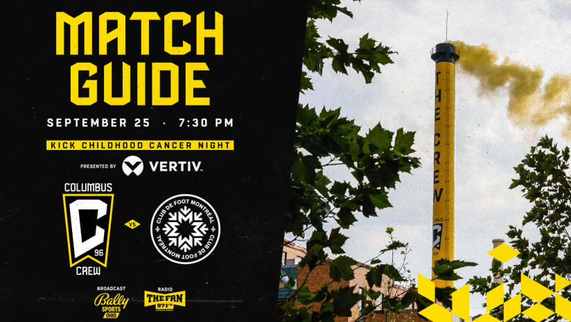 MATCH GUIDE | A look at what is happening on Kick Childhood Cancer Night pres. by Vertiv