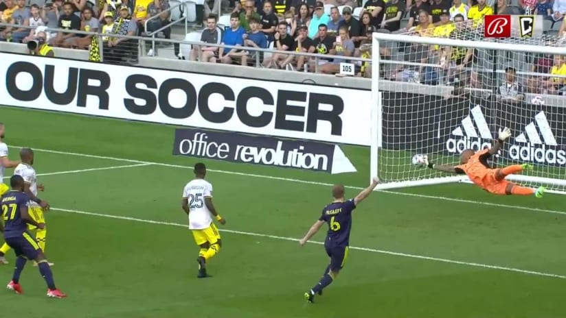 SAVE | Eloy Room goes full extension early in the first half