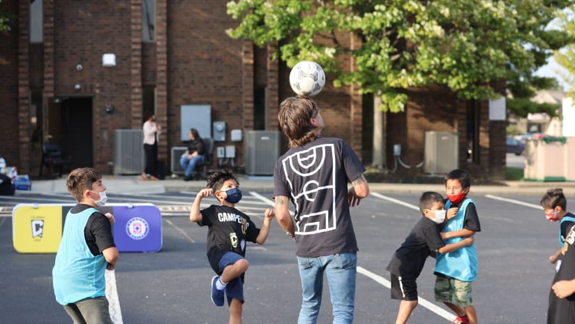 Kyle Martino joins in on the futsal game