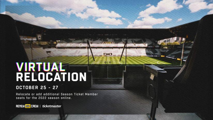 Virtual Season Ticket Membership Seat Relocation begins today, October 25, at 11 a.m.