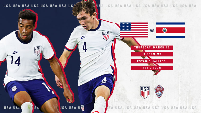 The Quest for Olympic Qualification Begins Wednesday for Sam Vines, Jonathan Lewis and the U.S. U-23 MNT -