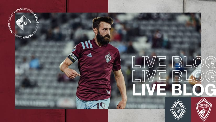 Play by Play: Rapids Grab 1-0 Road Win Over Whitecaps FC
