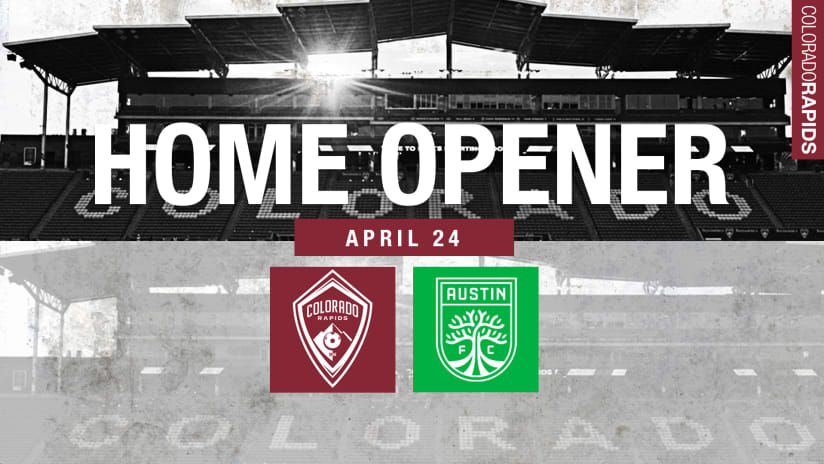 Colorado Rapids to Open 2021 Season on the Road at FC Dallas on April 17, Debut at Home on April 24 -