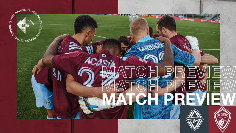 Rapids Visit Vancouver Whitecaps FC on Sunday Seeking First Victory