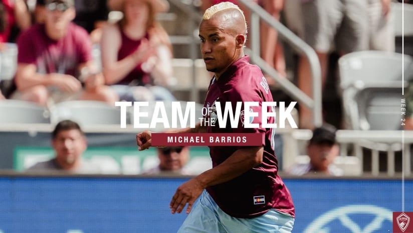 Week 24: Michael Barrios Named to Team of the Week Again