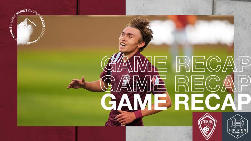Recap: Rapids' Dominant First Half Propels Team to 3-1 Victory