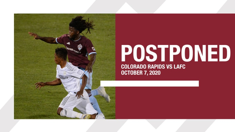 Match Against LAFC Has Been Postponed -