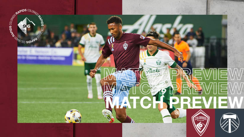 Preview: Rapids Look to Clinch Playoffs on Saturday Against Visiting Portland Timbers
