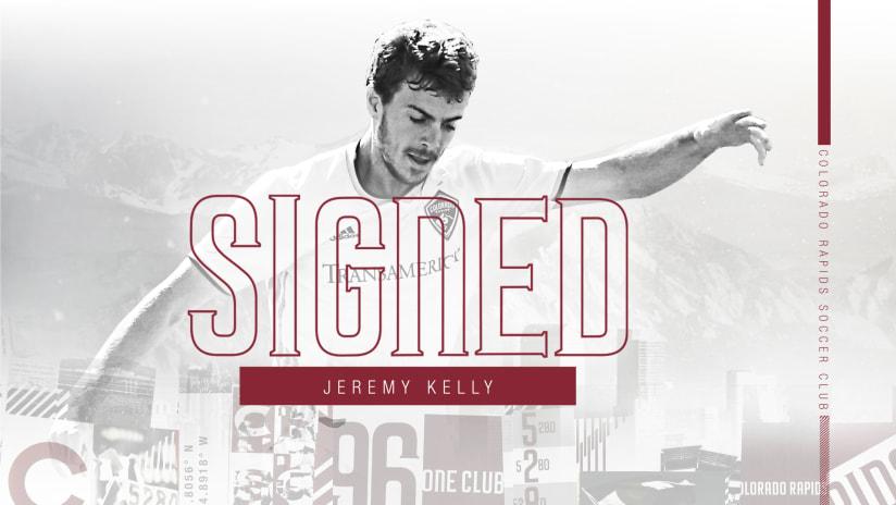 Colorado Rapids Sign Top-10 SuperDraft Pick Jeremy Kelly -