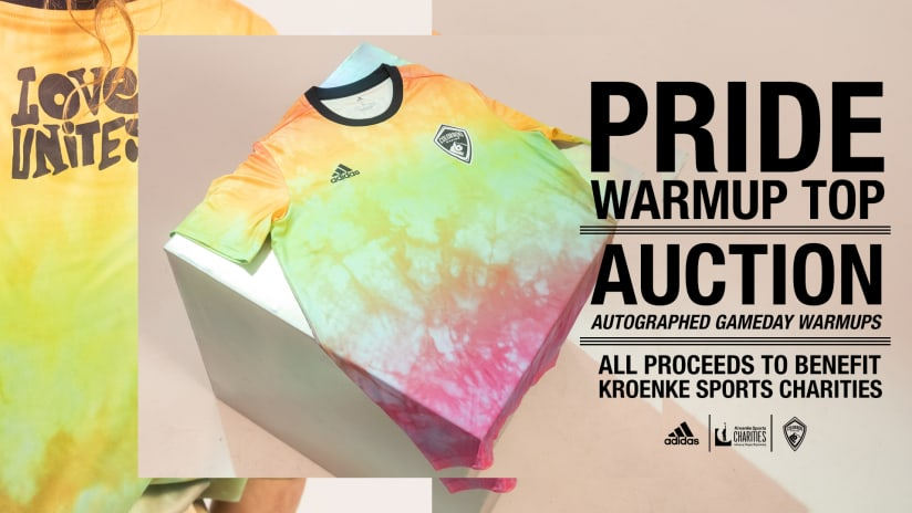 Bid on Authentic Gameday Pride Warmup Tops
