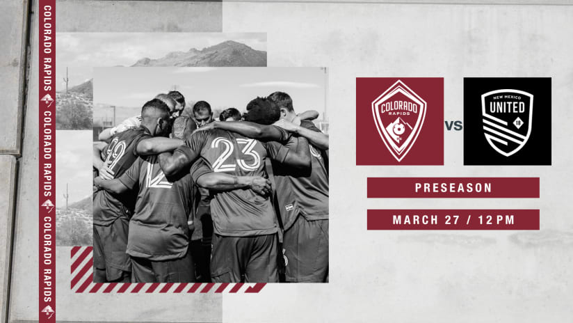 Colorado Rapids Face New Mexico United in Preseason Scrimmage on Saturday  -