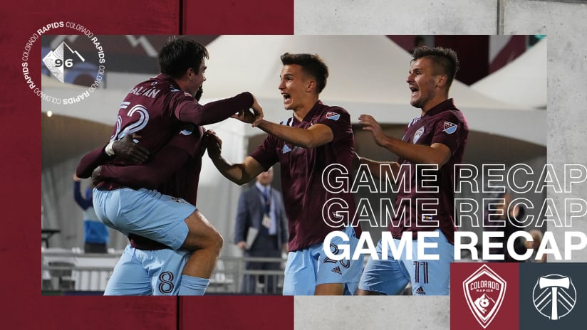 Recap: Rapids Secure Playoff Berth, 300th All-Time Win in 2-0 Victory Over Portland