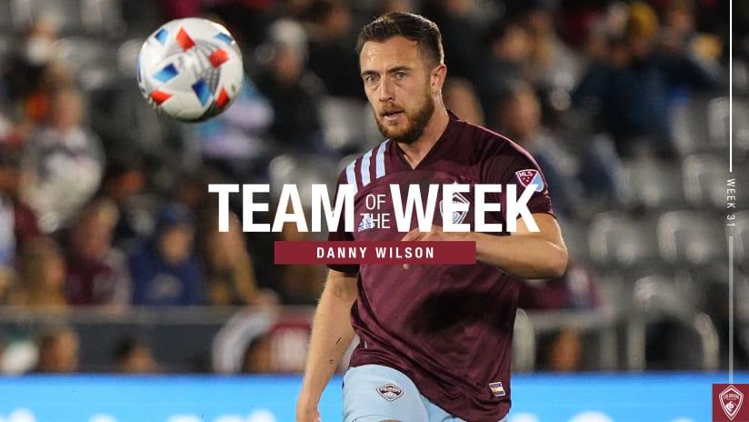 Week 31: Rapids Defender Danny Wilson Named to MLS Team of the Week Bench