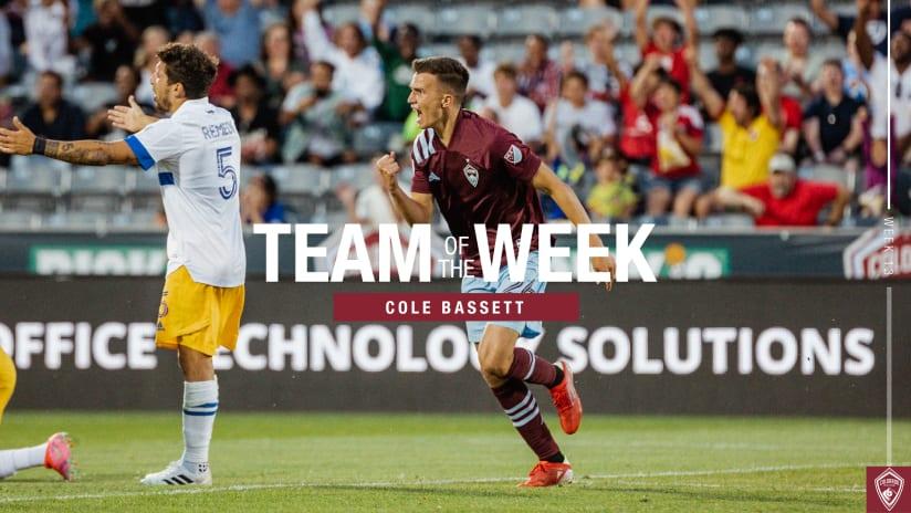 Week 13: Cole Bassett Represents Rapids on MLS Team of the Week