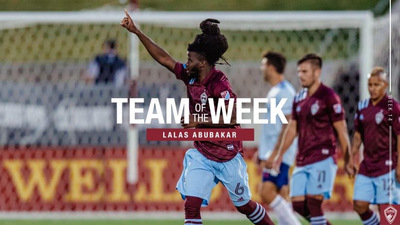 Week 14: Abubakar Named to MLS Team of the Week