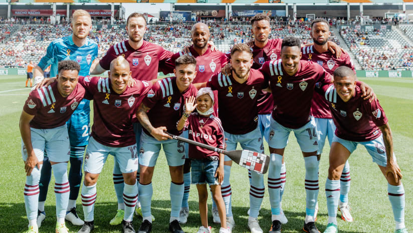 Gabby James Serves as Kid Captain for Galaxy Match