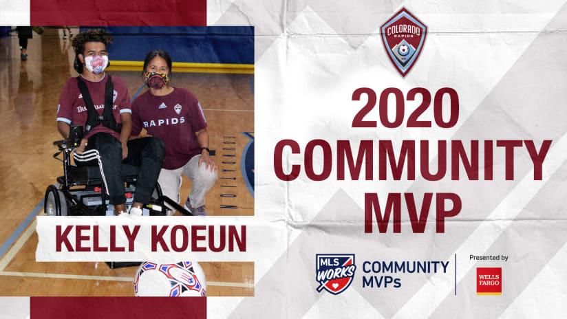 Kelly Koeun Named Rapids' 2020 Community MVP Presented by Wells Fargo -