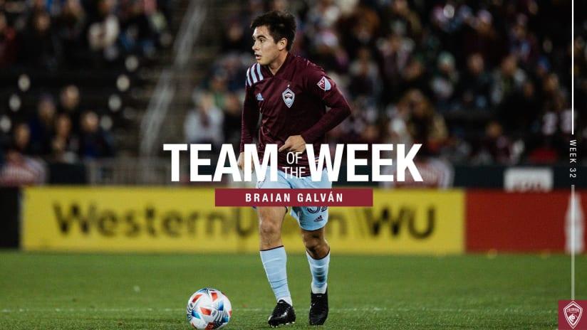 Week 32: Braian Galván, Auston Trusty Named to Team of the Week