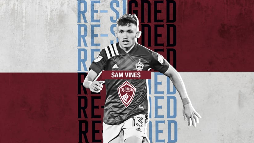 Colorado Rapids Sign Homegrown Defender Sam Vines to Four-Year Contract Extension -
