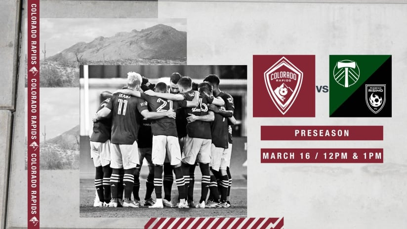Colorado Rapids Face Portland Timbers, Phoenix Rising FC in Closed-Door Scrimmages on Tuesday -