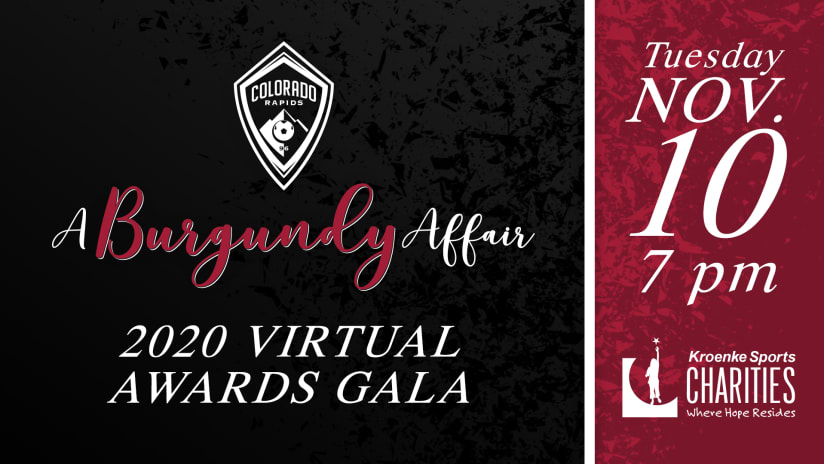 Rapids Annual Charity Gala, A Burgundy Affair, to be Online, Open to the Public -