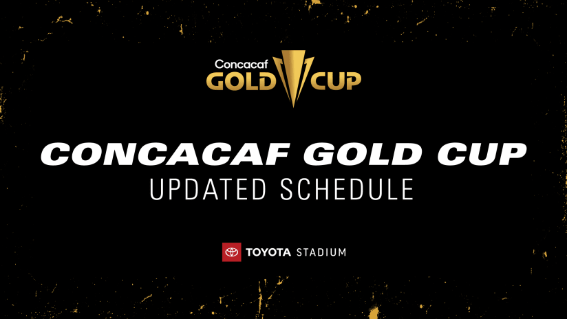 Concacaf Announces Changes to Gold Cup Schedule