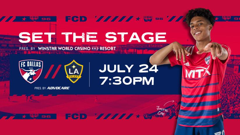 SET THE STAGE: FC Dallas vs. LA Galaxy | 7.24.21