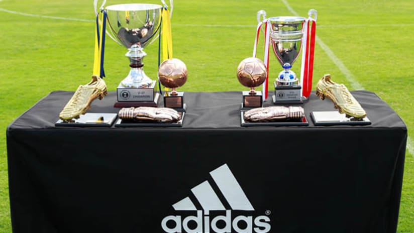 Generation adidas Cup trophies