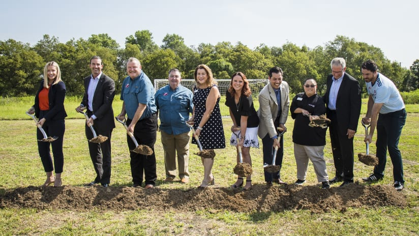 The FC Dallas Foundation Breaks Ground on My Possibilities Field