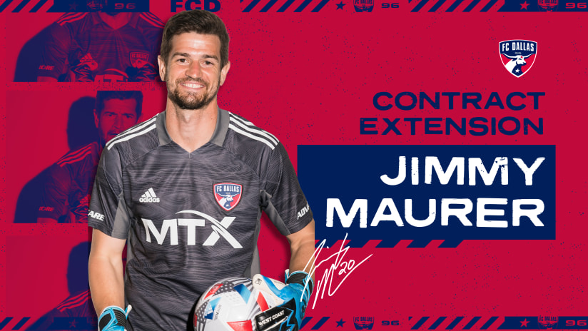 Jimmy Maurer Signs New Contract with FC Dallas