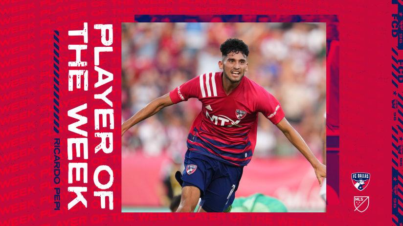 FC Dallas Forward Ricardo Pepi Voted MLS Player of the Week for Week 15