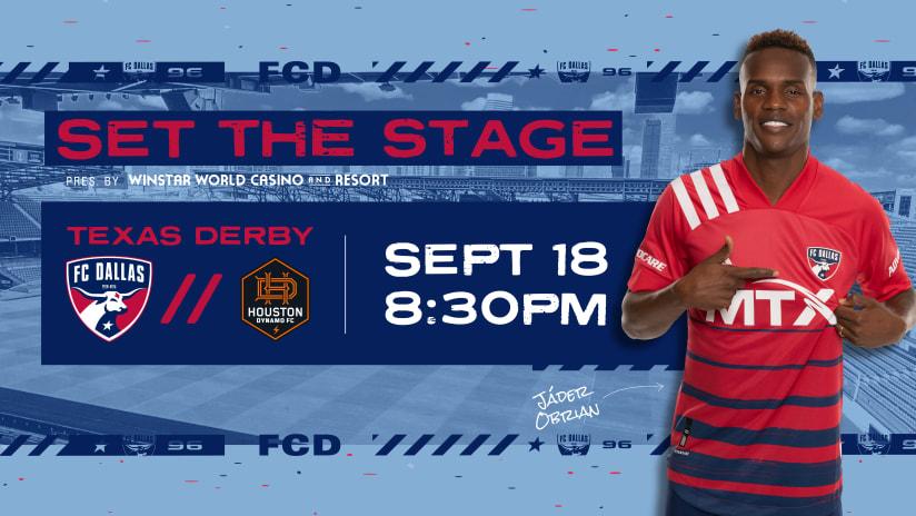 SET THE STAGE: FC Dallas vs. Houston Dynamo FC | 9.18.21