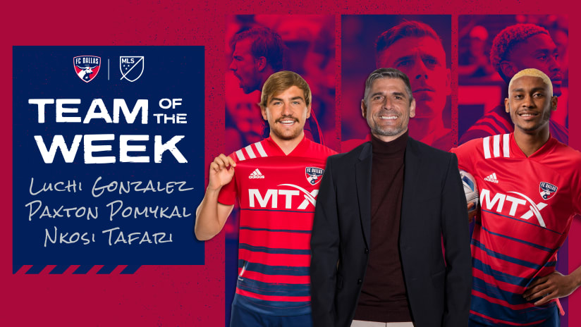 FC Dallas Head Coach Luchi Gonzalez and Homegrown Paxton Pomykal Named to MLS Week 16 Team of the Week