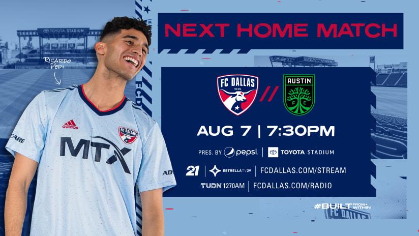 HOW TO WATCH: FC Dallas vs. Austin FC | 8.7.21