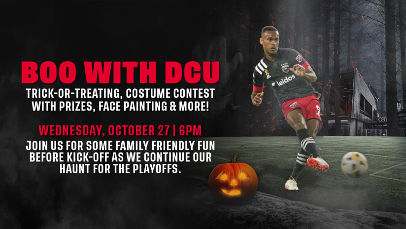 D.C. United Announce 'Boo with DCU' Pre-Match Halloween Activities for October 27 Match Against New York Red Bulls