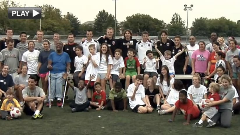 Dreams for Kids soccer clinic video
