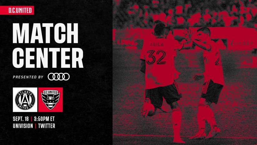 Match Center | September 18 vs. Atlanta United FC