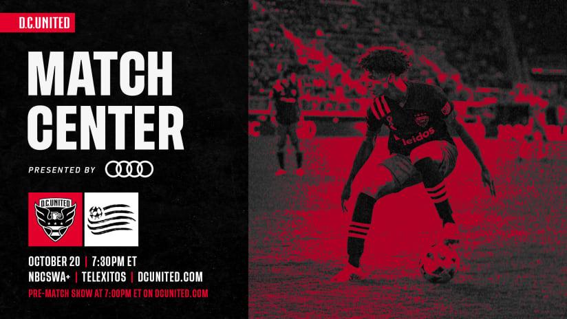 Match Center | October 20 vs. New England Revolution