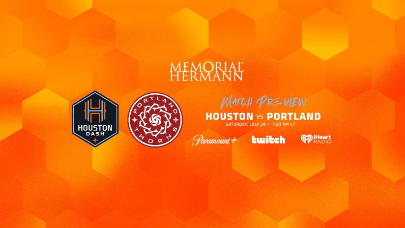 Houston Dash host Portland Thorns at BBVA Stadium on Saturday