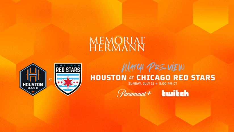 Houston Dash travel to Illinois on Sunday to take on the Red Stars