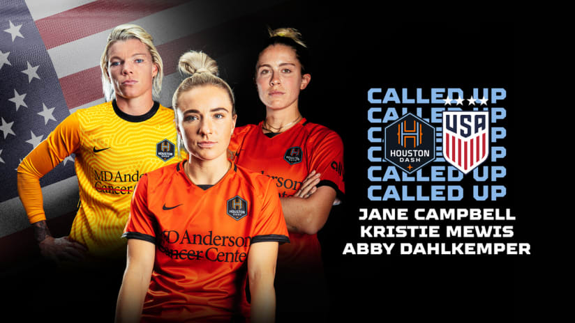 Three Houston Dash players named to USWNT roster for September friendlies