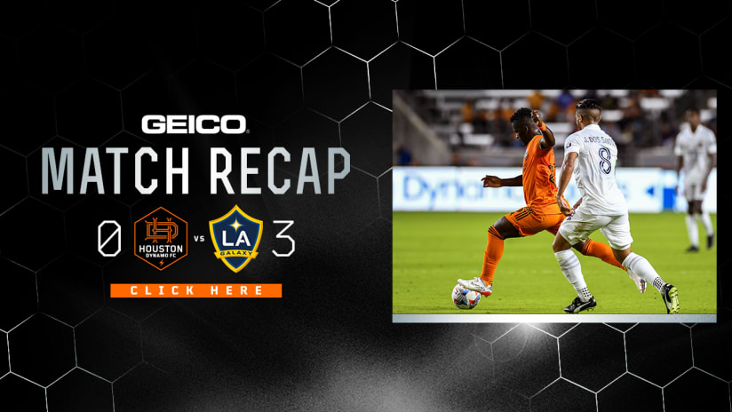Houston Dynamo fall to LA Galaxy 3-0